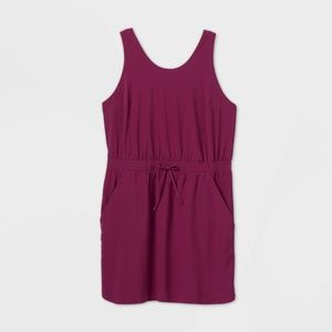 All In Motion Stretch Woven Dress Purple S…